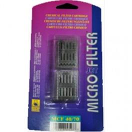 A.S. - CARTUCCIA CARBONE MicroJet Filter 40/70 - 2pz.- 00.64.001